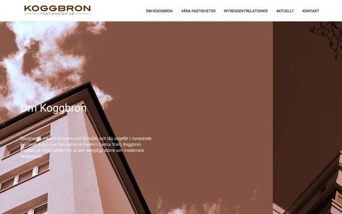 Screenshot of Home Page koggbron.se - Koggbron - Start - captured Sept. 10, 2015