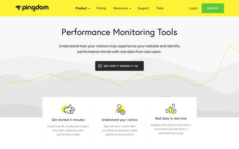 Performance & Real User Monitoring Tools (RUM) | Pingdom