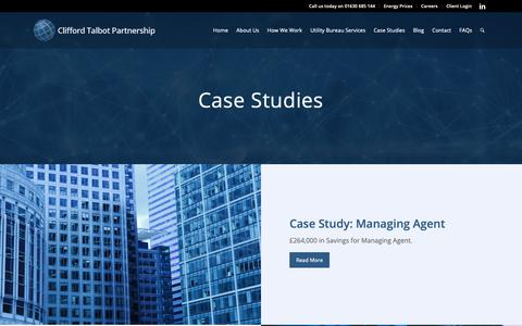 Screenshot of Case Studies Page cliffordtalbot.co.uk - Case Studies - Clifford Talbot - captured Sept. 28, 2018