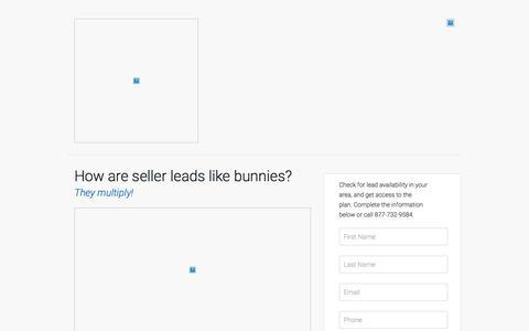 Screenshot of Landing Page marketleader.com - How are seller leads like bunnies? - captured July 22, 2016
