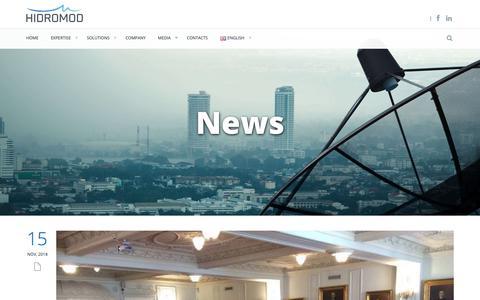 Screenshot of Press Page hidromod.com - News   Hidromod - captured Dec. 13, 2018