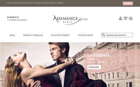 Bijouterie en ligne - Bijoux diamant - Adamence