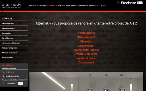 Screenshot of Services Page alternativ.be - demenagement reamenagement - captured Nov. 19, 2016