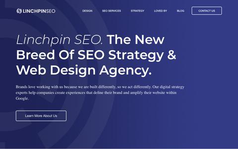 Screenshot of Home Page linchpinseo.com - Linchpin SEO: A New Breed Of Digital Strategy & Web Design Agency - captured Feb. 7, 2019