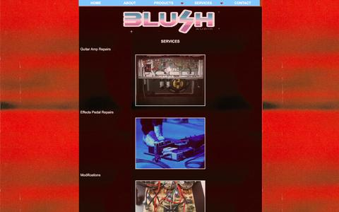 Screenshot of Services Page blushaudio.co.uk - Amp Repairs | Leeds | Blush Audio | Software | Electronics - captured June 2, 2017