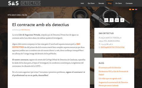 Screenshot of Blog ssdetectius.com - Blog | S&S Detectius - captured July 20, 2016