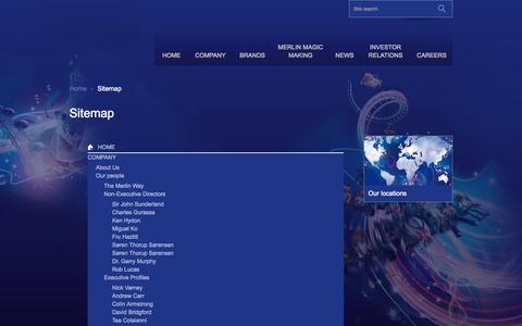 Screenshot of Site Map Page merlinentertainments.biz - Sitemap | Merlin Entertainments - captured Sept. 24, 2014