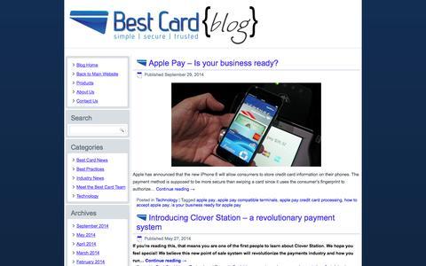 Screenshot of Blog bestcardpayments.com - Best Card Payments Blog - captured Oct. 5, 2014