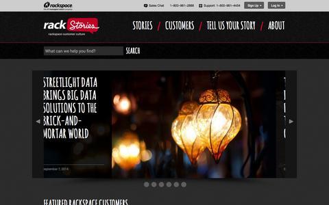 Screenshot of Case Studies Page rackspace.com - RackStories - captured Sept. 12, 2014