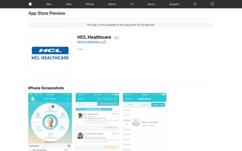 HCL Healthcare on the App Store