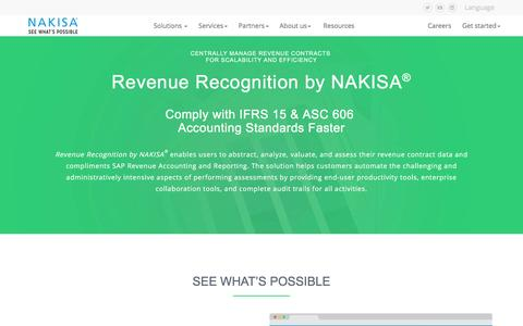 Revenue Recognition | SAP Lease Administration by Nakisa | Nakisa