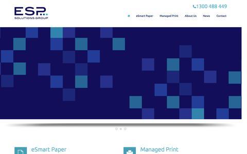 Screenshot of Home Page espsg.com.au - ESP Solutions Group - captured Jan. 23, 2016