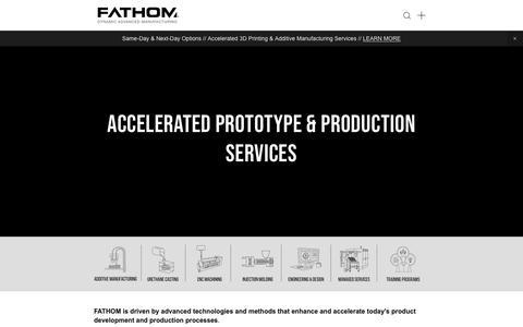 Screenshot of Home Page studiofathom.com - FATHOM - captured Nov. 22, 2018