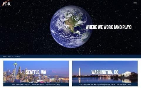 Screenshot of Locations Page prrbiz.com - Locations | PRR Biz - captured Jan. 23, 2016