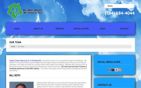 Screenshot of Team Page healthyhomecharlotte.com - HVAC Experts in Charlotte NC, Healthy Home Heating & Air - captured Oct. 1, 2014