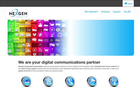 Screenshot of Products Page nexgencom.com - NexGen: Products - captured Oct. 18, 2018
