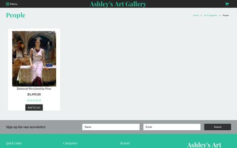 Screenshot of Team Page ashleyart.com - Art Catagories - People - Ashley's Art Gallery - captured Feb. 6, 2016