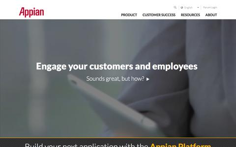 Screenshot of Home Page appian.com - Business Process Management (BPM) | Appian - captured Nov. 30, 2015