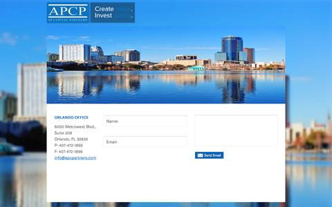 Screenshot of Contact Page apcpartners.com - Contact Us | AP Capital Partners - captured Oct. 4, 2014