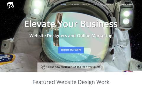 Screenshot of Home Page f6.co.nz - F6 Website Designers - Website Design/Web Design/Online Marketing - captured July 4, 2019