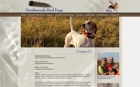 Screenshot of Contact Page Maps & Directions Page northwoodsbirddogs.com - Contact Northwoods Bird Dogs in Sandstone, Minnesota - captured Oct. 7, 2014