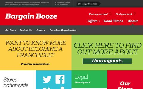 Screenshot of About Page bargainbooze.co.uk - About Us - captured Sept. 19, 2014
