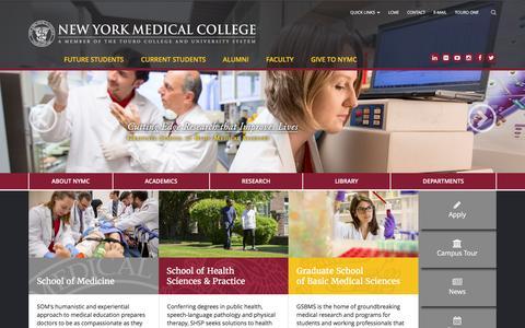 Screenshot of Home Page nymc.edu captured Feb. 6, 2016