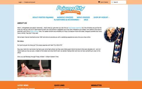 Screenshot of About Page pajamacity.com - About Us – Pajama City - captured Oct. 18, 2016