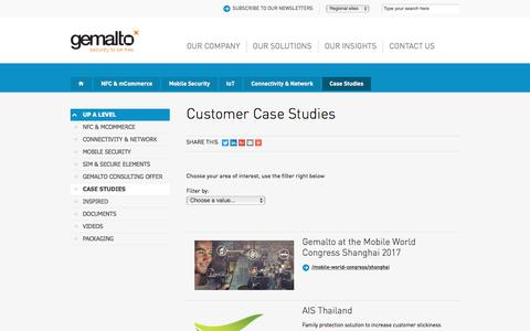 Screenshot of Case Studies Page gemalto.com - Case studies for NFC, Mobile ID, Mobile payment and many more… - captured Oct. 22, 2017