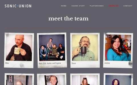 Screenshot of Team Page sonicunion.com - Meet The Team — Sonic ★ Union - NYC Audio Post Production - captured Sept. 21, 2018
