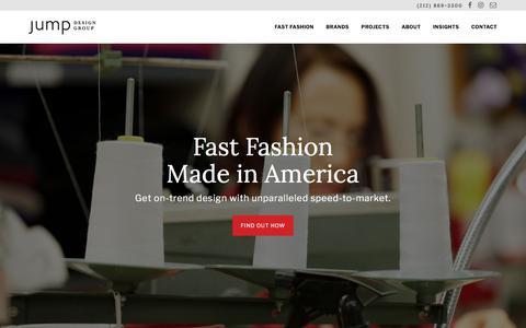 Screenshot of Home Page jumpdesigngroup.com - Jump Design Group - captured Sept. 20, 2018