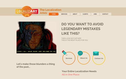 Screenshot of About Page localizart.com - LocalizArt - captured July 24, 2015