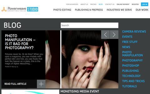 Screenshot of Blog powerweavestudio.com - Photo Editing, Restoration, Retouching tips and Photography Tutorials at Powerweave Studio Blog   Powerweave studio - captured Sept. 30, 2014
