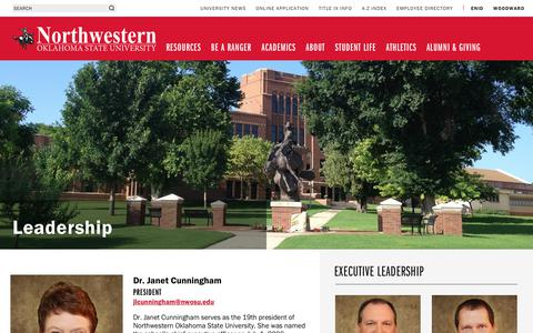 Screenshot of Team Page nwosu.edu - Leadership | Northwestern Oklahoma State University - captured Oct. 18, 2018