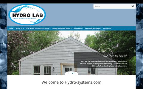 Screenshot of Home Page hydro-systems.com - Hydro-Systems - captured Sept. 25, 2016