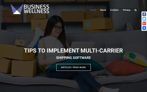 Screenshot of Home Page fitsteadywellness.com - Tips to Implement Multi-Carrier Shipping Software - captured Oct. 10, 2018