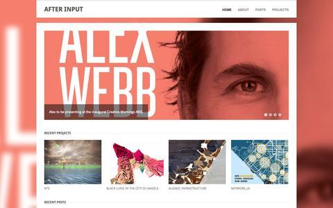 Screenshot of Blog alexwebb.com - AFTER INPUT - captured June 18, 2015