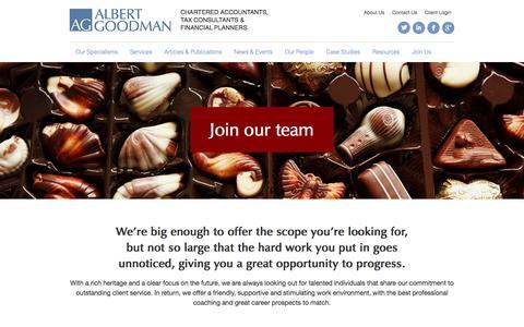 Join Us - Albert Goodman - Chartered Accountants