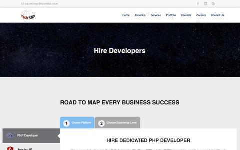 Screenshot of Developers Page techkbc.com - Developer :: - captured Oct. 19, 2018
