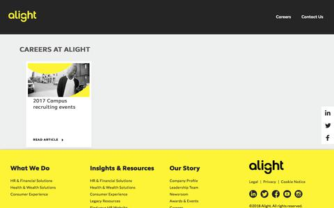 Screenshot of Jobs Page alight.com - Careers at Alight - captured April 13, 2018