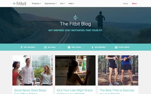 Screenshot of Blog fitbit.com - Fitbit Blog | Follow the Fitbit blog for individual success stories, expert fitness tips, health and nutrition advice, product announcements, motivation and more. - captured Nov. 11, 2015