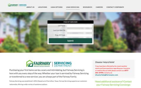Loan Servicing | Fairway Independent Mortgage Corporation