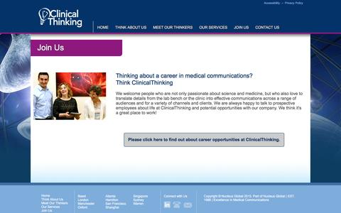 Screenshot of Signup Page clinicalthinking.com - ClinicalThinking - Science is our passion - captured Dec. 9, 2015