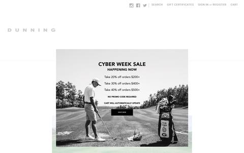 Screenshot of About Page dunninggolf.com - About | Dunning - captured Nov. 20, 2018