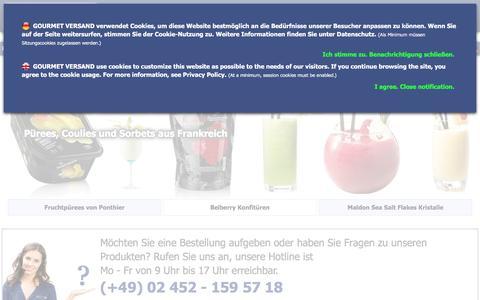 Screenshot of Home Page gourmet-versand.com - GOURMET VERSAND - captured June 10, 2016