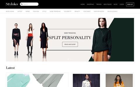 Screenshot of Blog styloko.com - Women's fashion and shopping trends on Styloko.com. - captured Sept. 18, 2014