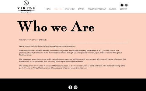 Screenshot of About Page virtzu.com - ABOUT US | virtzu - captured Sept. 3, 2019