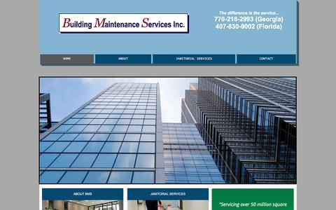 Screenshot of Home Page bmsinc.us - Building Maintenance Services, Inc. - captured Oct. 11, 2017