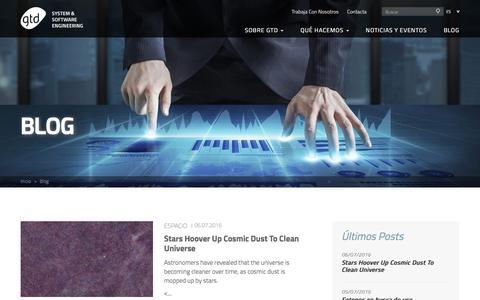 Screenshot of Blog gtd.es - Blog | GTD :: System & Software Engineering - captured July 10, 2016
