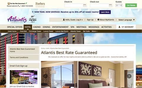 Screenshot of atlantiscasino.com - Our Best Rate Guaranteed | Atlantis Casino Resort Spa - captured Jan. 10, 2017